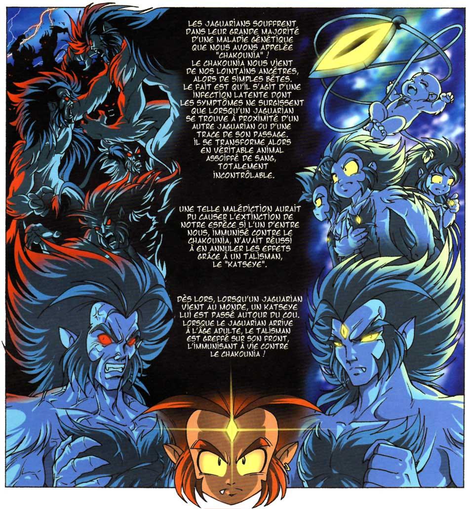Description de la maladie de la Chakounia que seul le talisman Katseyes peut neutraliser.