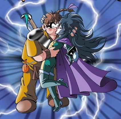 Razzia et Ténébris s'embrassent