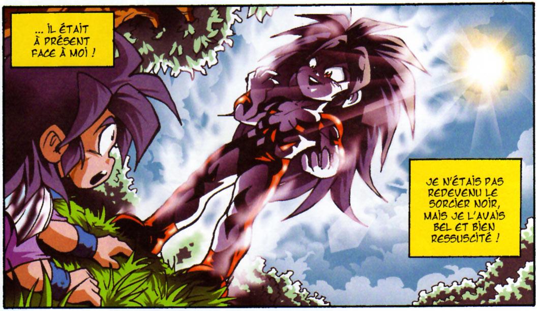 Skalp-Hell est le double maléfique d'Elysio qui est apparu lorsqu'il a retrouvé la mémoire