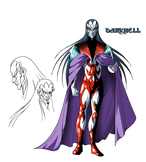 Darkhell adulte (Les Légendaires) Model Sheet
