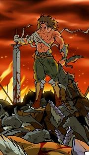 Korbo l'Ombre Rouge vient de décimer l'armée des 1000 Loups