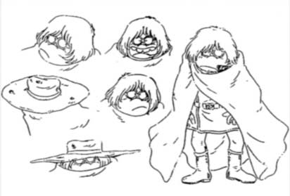 model Sheet de Toshirô (Albator 84)