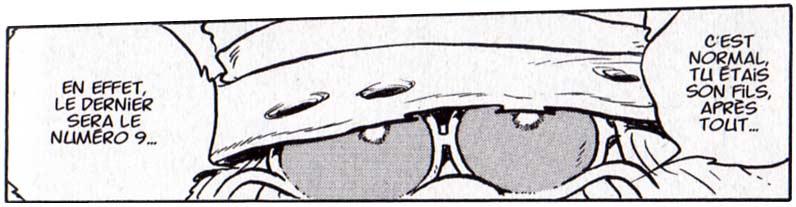 Page 100 du tome 1 de l'Anneau des Nibelungen, Toshirô évoque son intention de faire non pas 7, mais 9 Arcadia