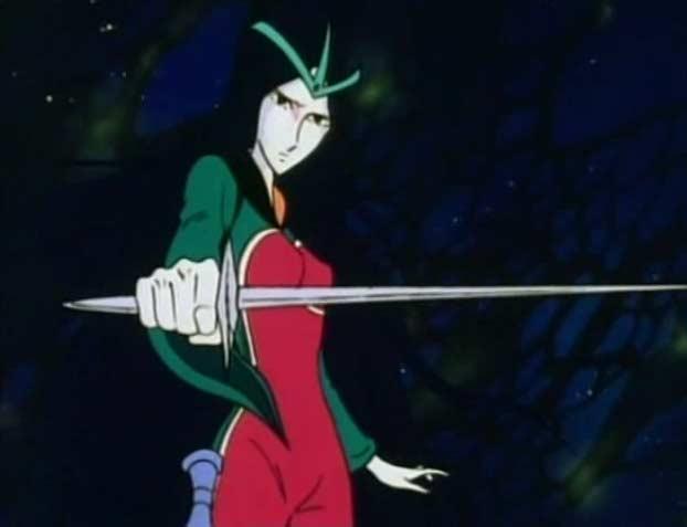 Sylvidra dans sa tenu de duel pour affronter Albator