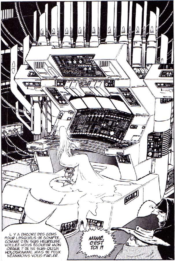 Miimé joue d'un orgue spécial qui contrôle