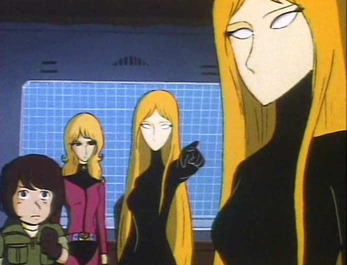 Dans l'épisode 9 d'Albator 84, une espionne se fait passer pour Miimé