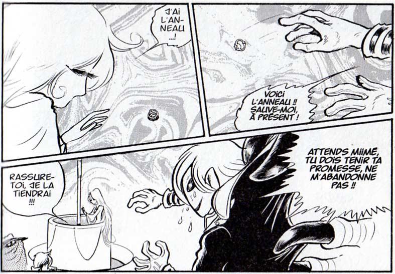 Alberich appelle sa soeur Miimé à l'aide pour qu'elle le sauve du dragon
