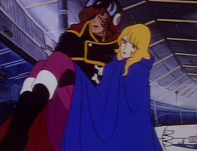 Après qu'Albator l'ait sauvée, Nausica tombera amoureuse de lui