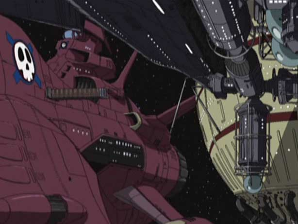 le vaisseau de Nausica aborde un navire (Endless Odyssey)