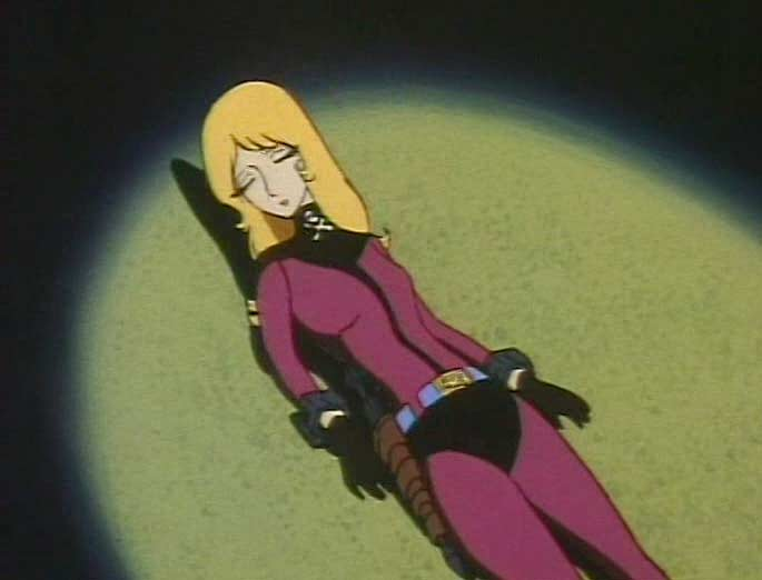 Une espionne humanoïde tente de sonder le subconscient de Nausica (Albator 84)