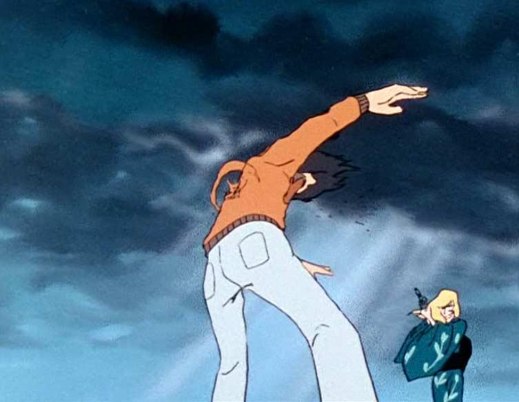 Nausica abat Roger après avoir découvert sa trahison