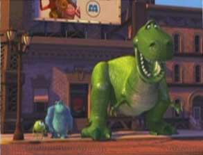 Apparition de Rex dans Monstres & Cie de Pixar
