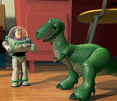 Rex écoute les conseils de Buzz pour prendre confiance en lui