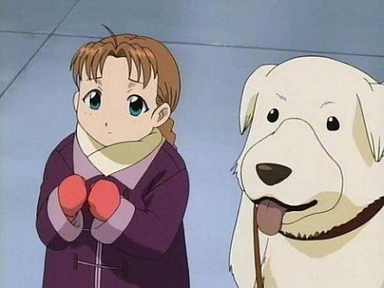 Nina et son chien Alexander