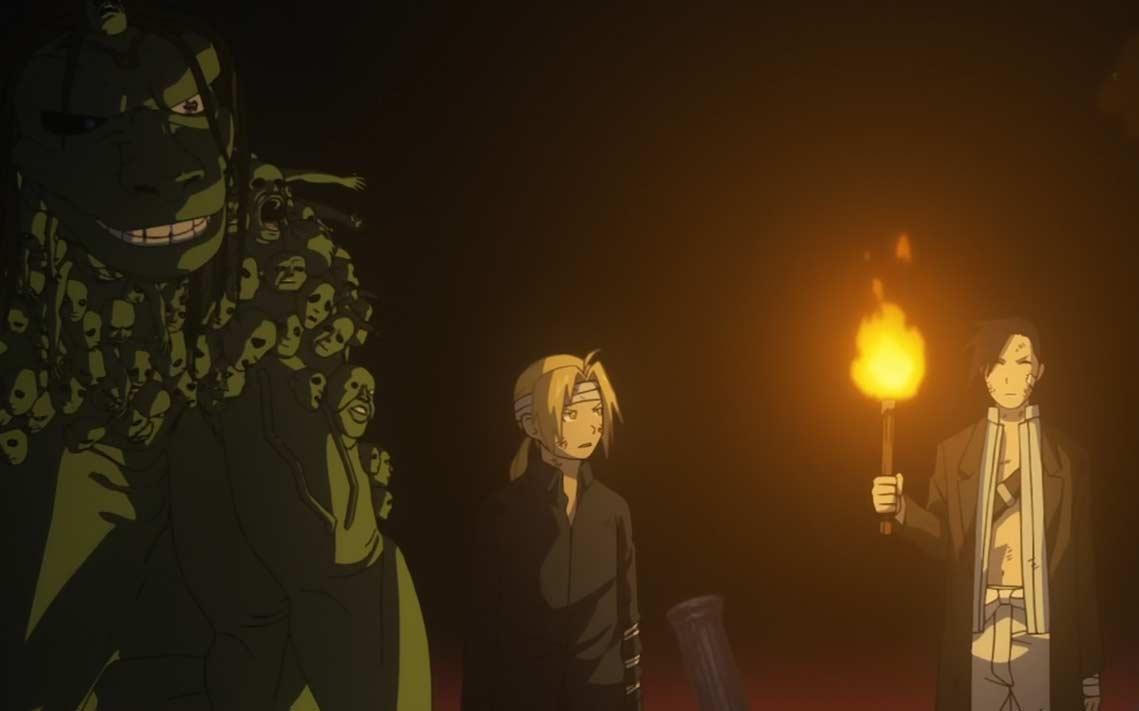 Lin, Edward et Envy se font bsorber par Glutonny et son bloqués dans une dimension parrallèle