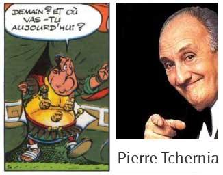 Pierre TCHERNIA dans le tome 20 d'Astérix