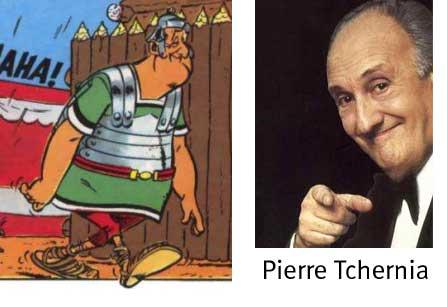 Pierre TCHERNIA dans le tome 24 d'Astérix