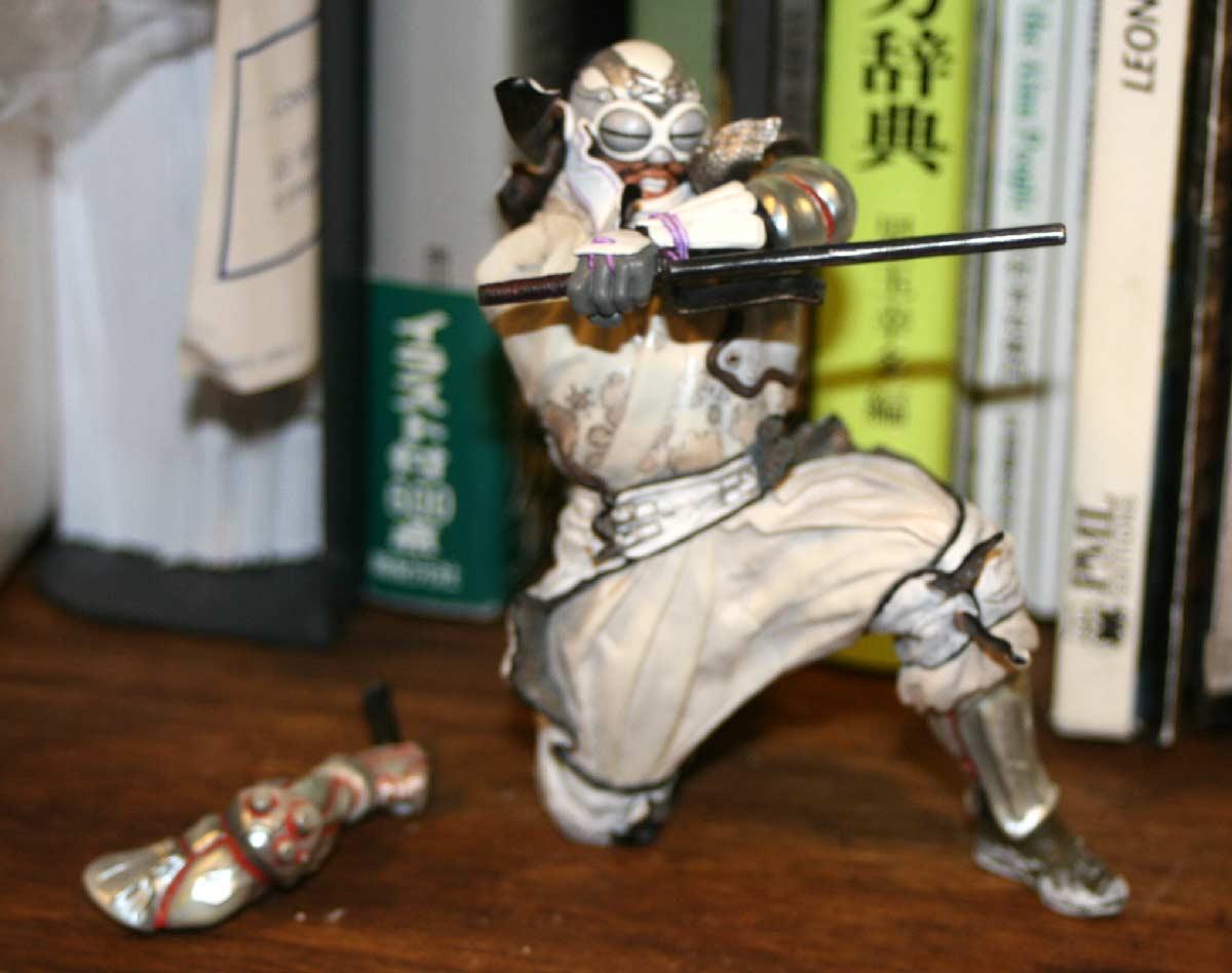 Figurine en cours d'élaboration (Shin-ichiro Natsusaka)